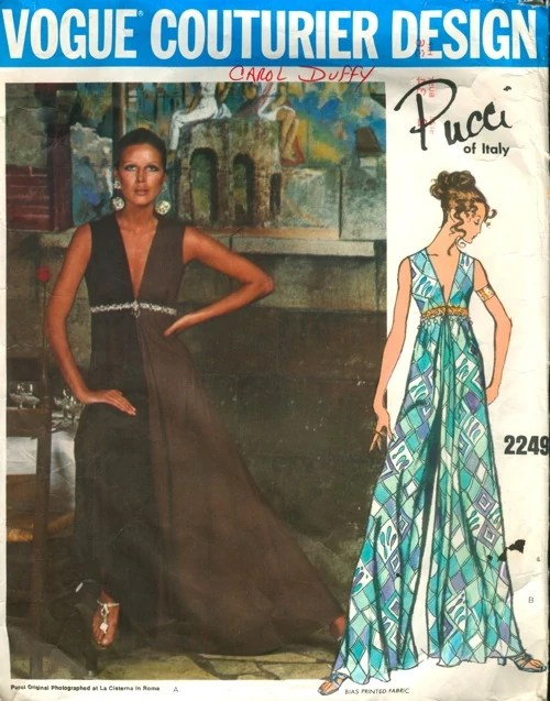 1960s Pucci lounge pajamas pattern - Vogue 2249