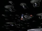 Federation fleet prepares to engage Dominion fleet
