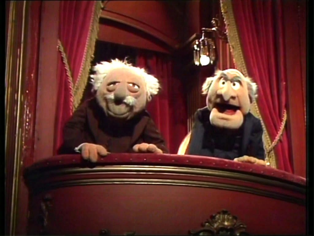 Image result for muppet babies mr statler and waldorf