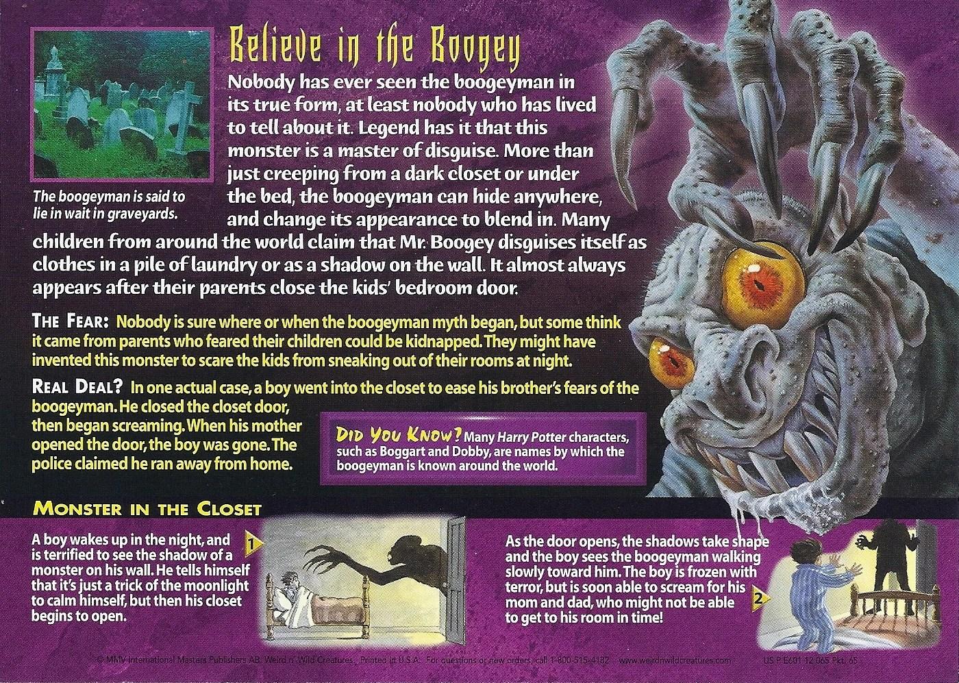 Boogeyman Wierd Nwild Creatures Wiki