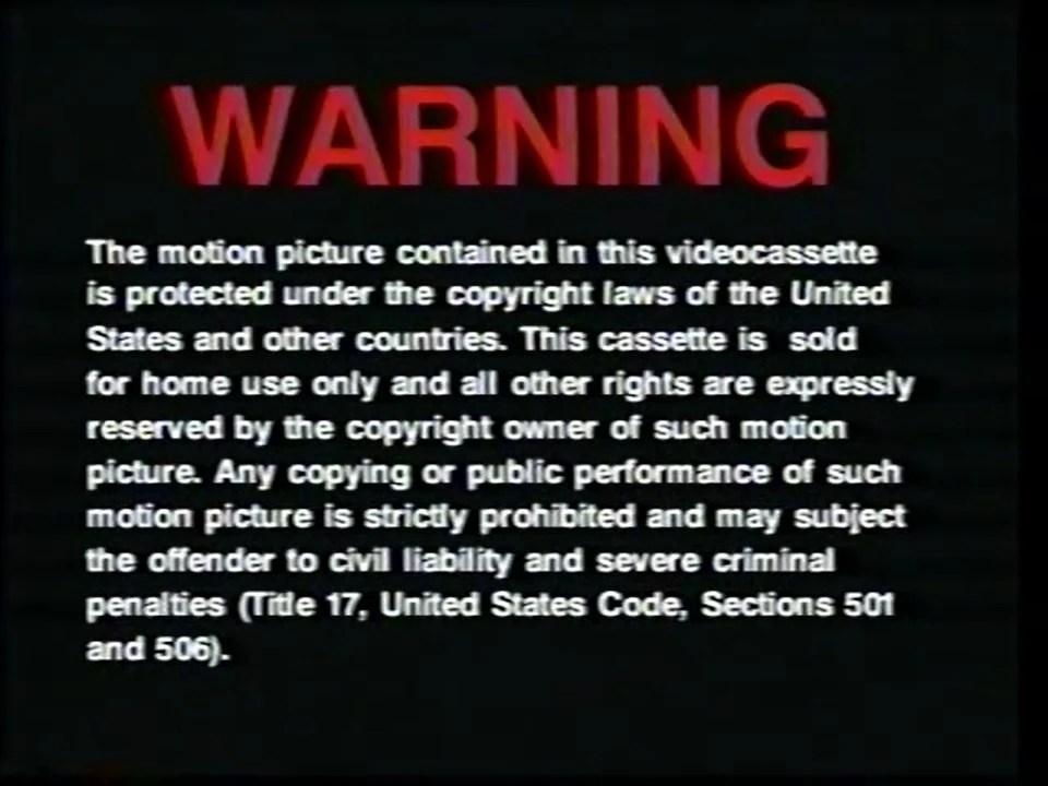 DreamWorks Home Entertainment Warning Screens  The FBI