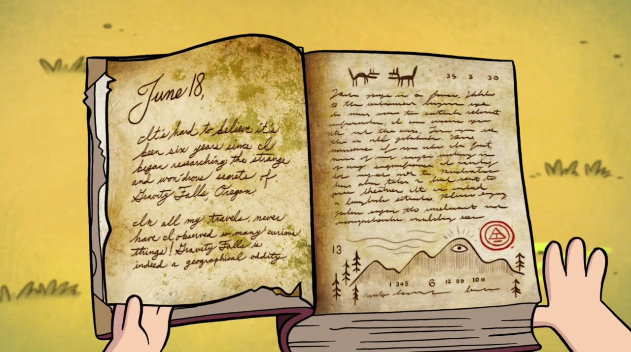 Gravity Falls Trust No One Wallpaper Gravity Falls Diarios Libro 1 2y3