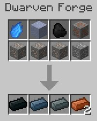 forge dwarven crafting minecraft recipes recipe lord rings ingots