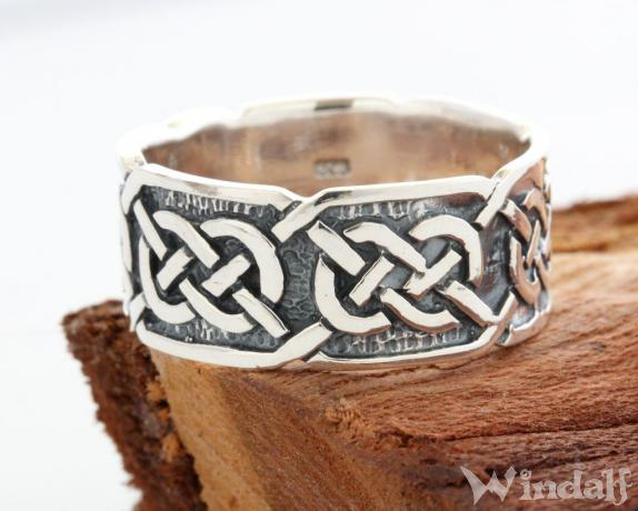 Keltischer Ring  LUGH  Ring der Freundschaft  Silber  Celtic  Kelten Ringe  Windalf