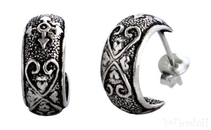 Ohrringe  HERZFEUER  Silber  Ohrringe mit Stecker  Windalf
