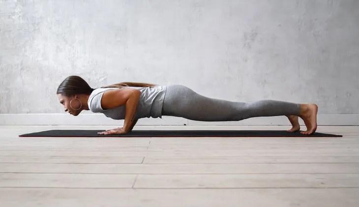 Yoga pose stick pose