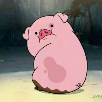 Gravity Falls Waddles Wallpaper 粉红pig 卡通动漫头像 我要个性网