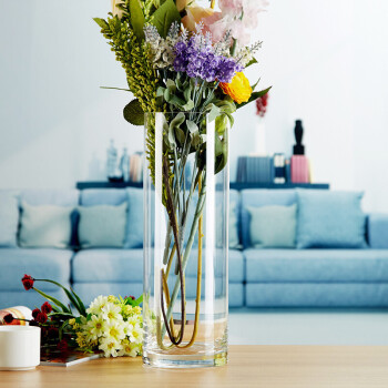 floor vases for living room singapore lighting fixtures ceiling the flagship store years products on sale cheap prices transparent glass vase decoration arrangement dried flower large straight barrel rich bamboo wedding road water diversion small fresh caliber 12