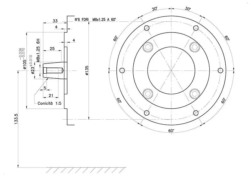 MOTORE DIESEL 4,7 HP AXO ENGINES alb.conico 23 mm