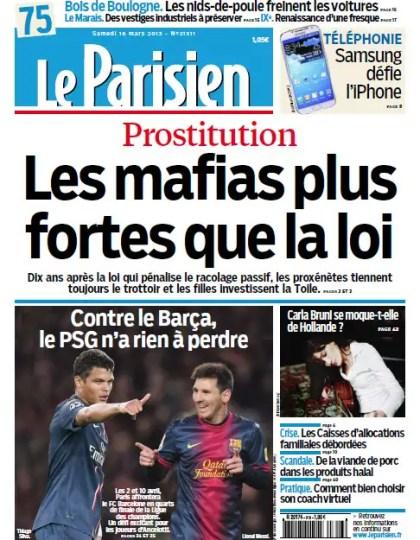 Le Parisien Samedi 16 Mars 2013