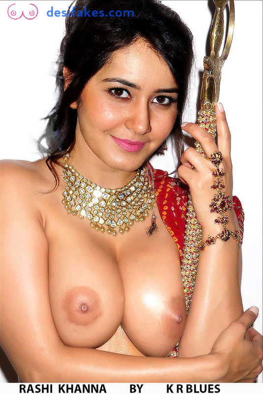 Raashi Khanna Nude Boobs fake by TINMAN