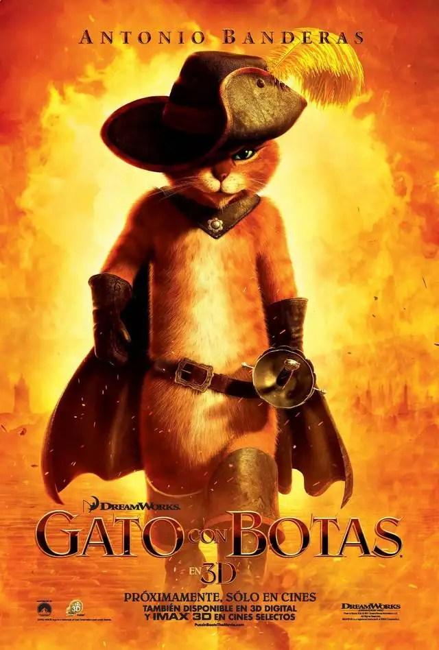 Noticias Curiosas - Cartel de la Película El Gato con Botas