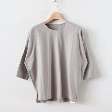 30/-度詰天竺 ドロップショルダーTシャツ #GRAY BEIGE [162-421] _ koton | コトン
