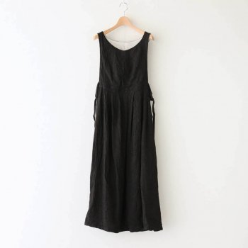 the last flower of the afternoon | ザラストフラワーオブジアフタヌーン - 寧静(ねいせい)なるPINAFORE DRESS #ブラック [TLF-121-op007-F]