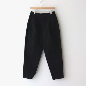 HARVESTY   ハーベスティ _ EASY EGG PANTS CHINO CLOTH GARMENT DYED #BLACK [A11913]