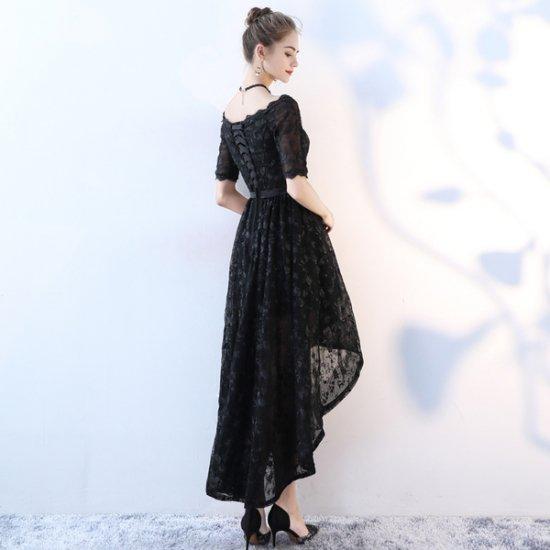 韓国ワンピースドレス 背中見せ ハイウエスト