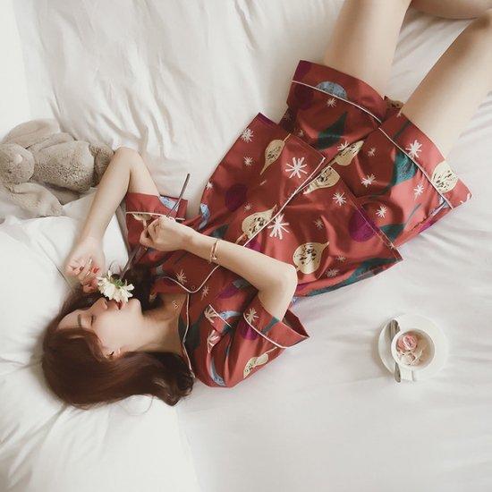 パジャマ 半袖半ズボン 月柄