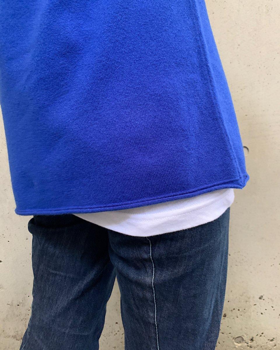 カシミアTシャツ ブルーの写真