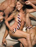 Jennifer Aniston naked (covered) wearing only tie at cover of GQ Jan 2009 issue - Hot Celebs Home