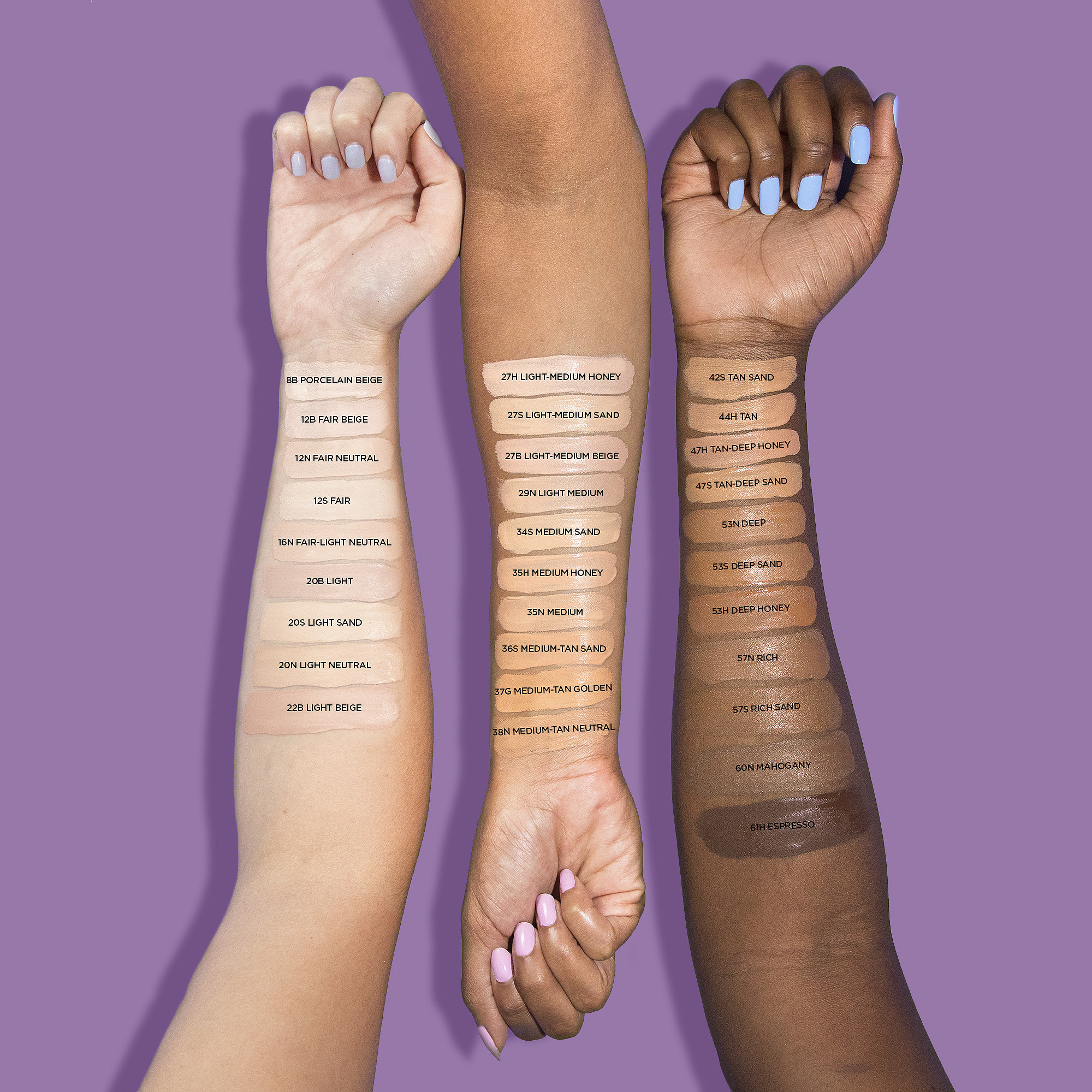 swatches of tarte shape