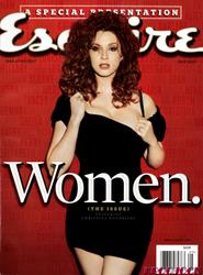 Christina Hendricks shows cleavage on cover of Women issue of  ESQUIRE May 2010 - Mega-UHQ Scan - Hot Celebs Home
