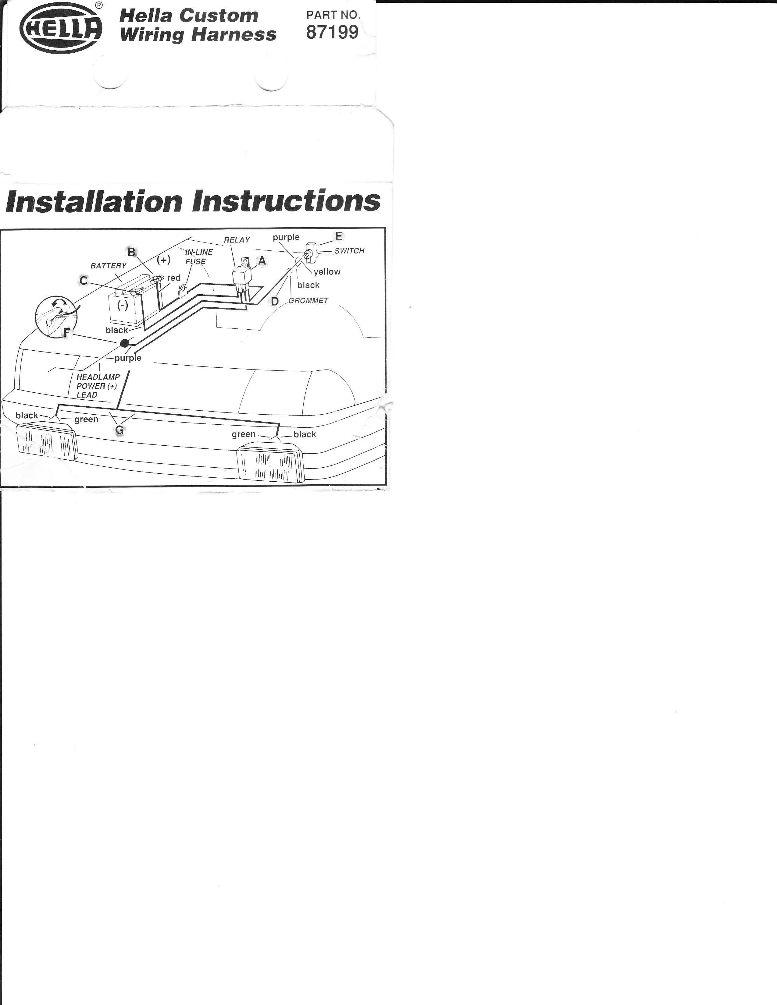 hella wiring diagram betty crocker easter bunny cake supertone horn fog light