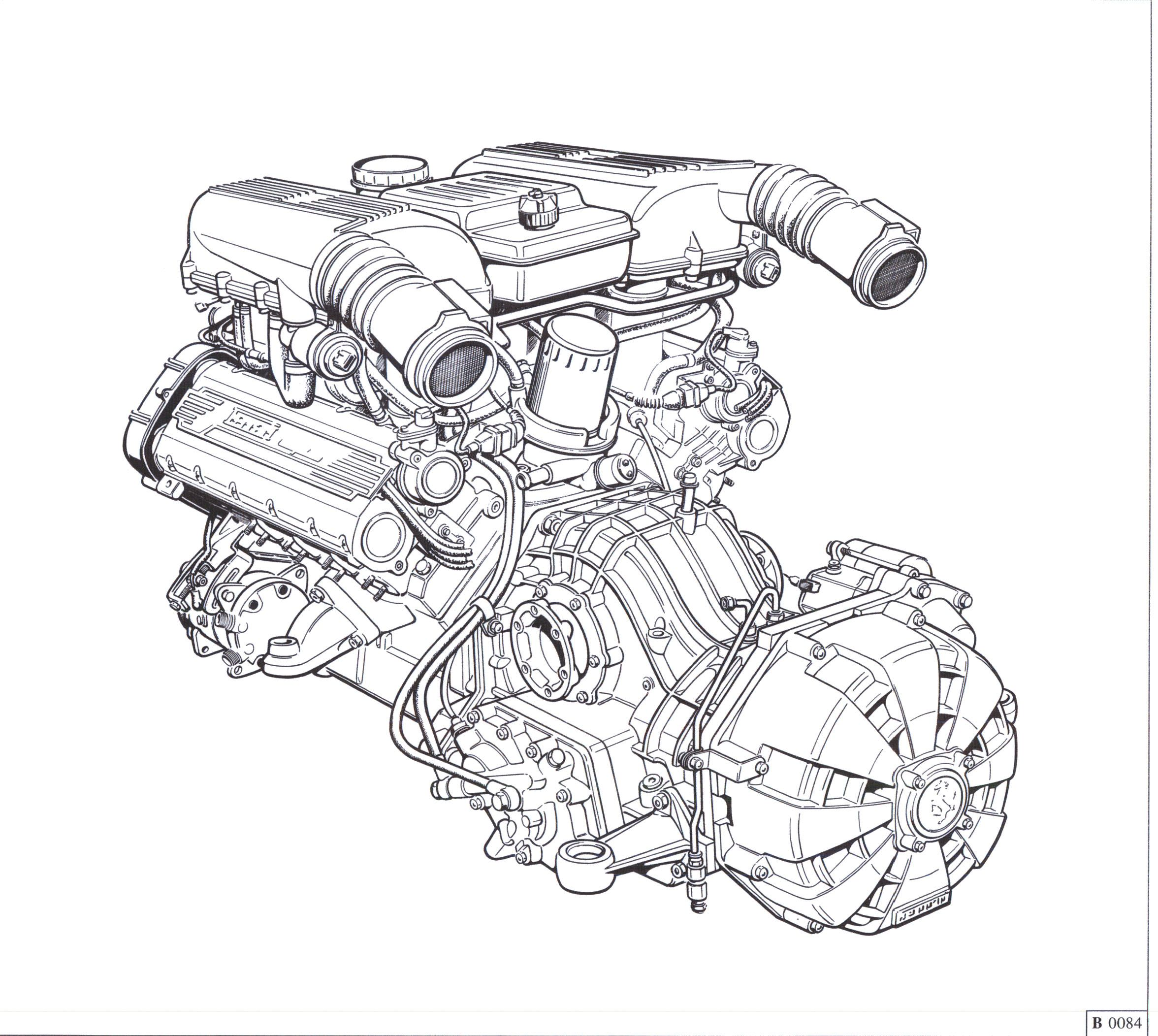 V8 Engine Block Blueprints, V8, Free Engine Image For User