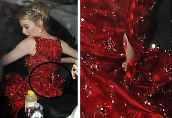 noticias Emma Stone sufrió vergonzoso incidente por usar un vestido pequeño