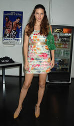 Adriana Lima leggy in short dress at 3rd Annual Aerospace Fight For Fitness Competition - Hot Celebs Home