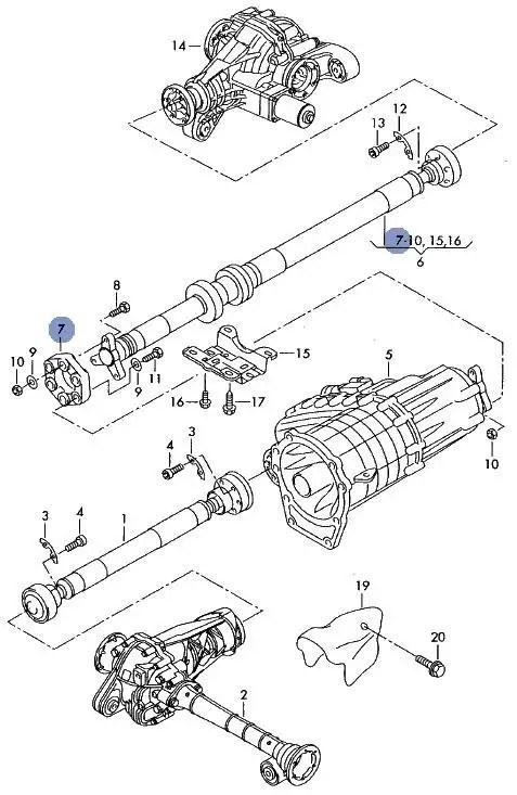 NEW GENUINE VW TOUAREG FLEXIBLE RUBBER PROP SHAFT DISC
