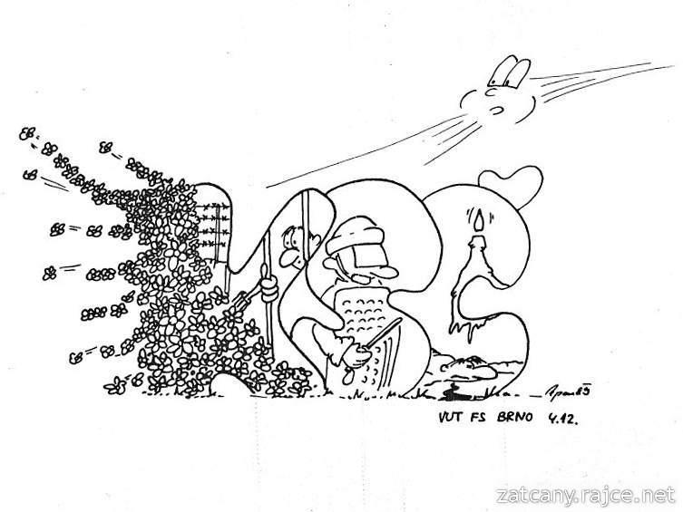 1989 Sametová revoluce - vtipné letáky z VUT FS