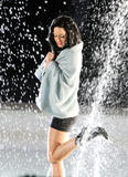 Katy Perry films her new music video 3Oh!3 getting completely wet and nippy in a fountain - Hot Celebs Home