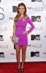 Audrina Patridge leggy and busty in body hugging pink dress at MTV's 'The Hills' Live: A Hollywood Ending Finale at The Roosevelt Hotel in Los Angeles - Hot Celebs Home