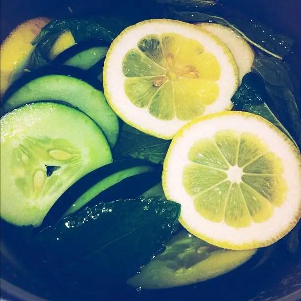 Lemon, Mint, & Cucumber Water