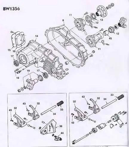 BW 1356 Transfer Case Rebuild Kit / Parts