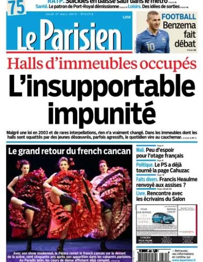 Le Parisien Jeudi 21 Mars 2013