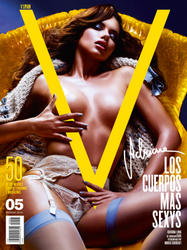 Adriana Lima topless on cover of V Spain Magazine Summer 2010 -  Hot Celebs Home
