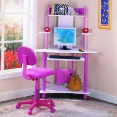 Girls Desk And Chair Big Comfy Chairs Escritorio Para Computadora In Room Design Rosa Vv4