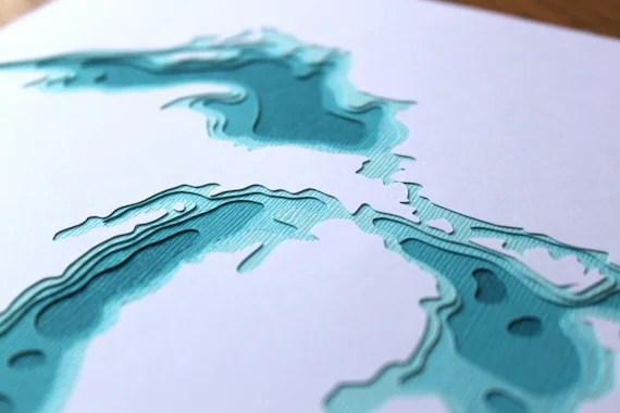 The Great Lakes in Aqua