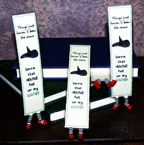 Set of 4 Wicked Witch Bookmarks Inspired by Wicked and Wizard of Oz - Gifts for the Entire Family of Readers