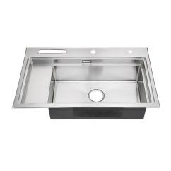 High End Kitchen Sinks Painting Cabinets Black 高端手工水槽8550浦项304不锈钢单槽批发厨房台阶盆洗菜池洗碗盆 价格 批发 厂家 参数 图片 水槽 手机搜好货网