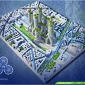 Vista aérea Torres Manglar. Imágen cortesía de Vincent Callebaut Architecture
