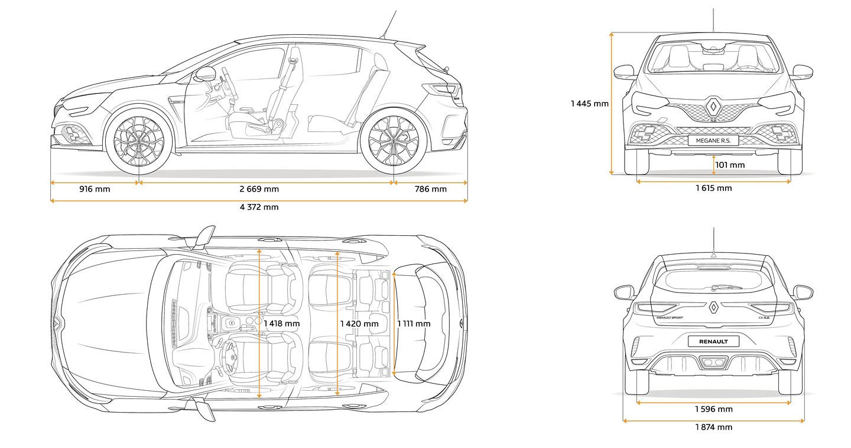 Renault Mégane R. S.: Výkon podle verze, 4Control vždy a