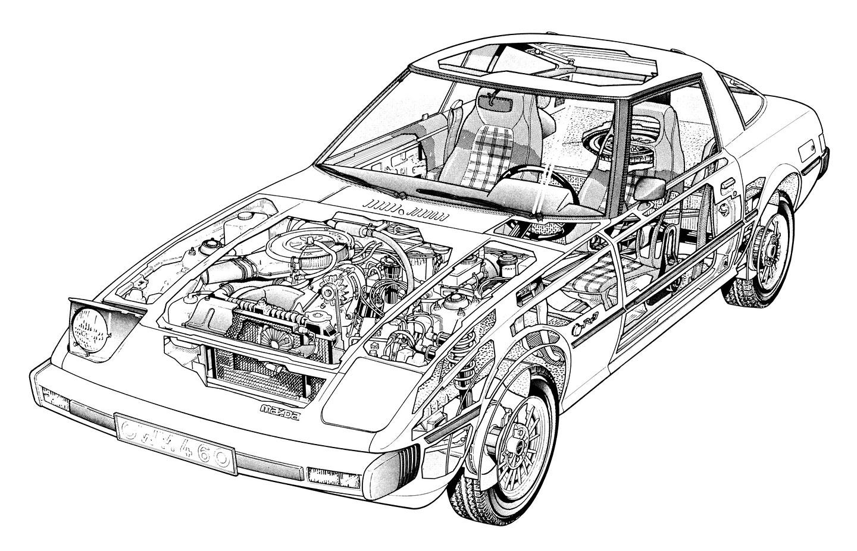 Mazda RX-7 (1978-1985): První generaci sporťáku s rotačním