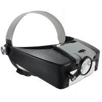 10X Lighted Magnifying Glass Headset LED Headband Loupe ...