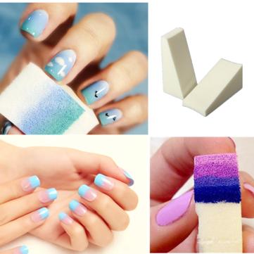 8pcs Grant Nail Art Soft Sponges Manicure Accessories