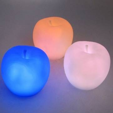 Wholesale Apple Shaped Color Changing Colorful LED Night Light Lamp Decoration