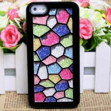 Texture Of The Wall Pattern With Diamond Hard Case For iPhone 5 5S