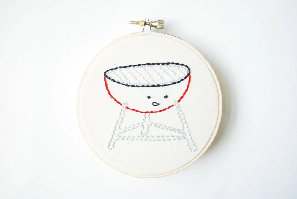Bar-B-Cute - Summer Cookout Hand Embroidery Pattern - wildolive