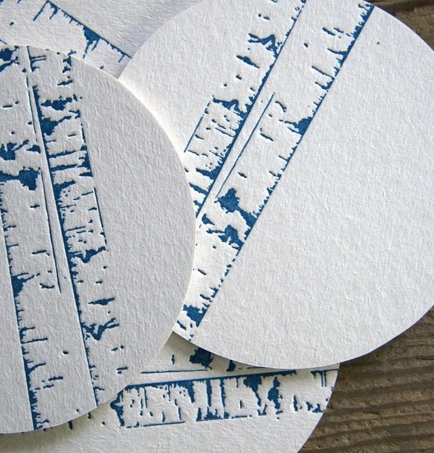 Birch Trees: Letterpress Coasters (10ct) - redbirdink